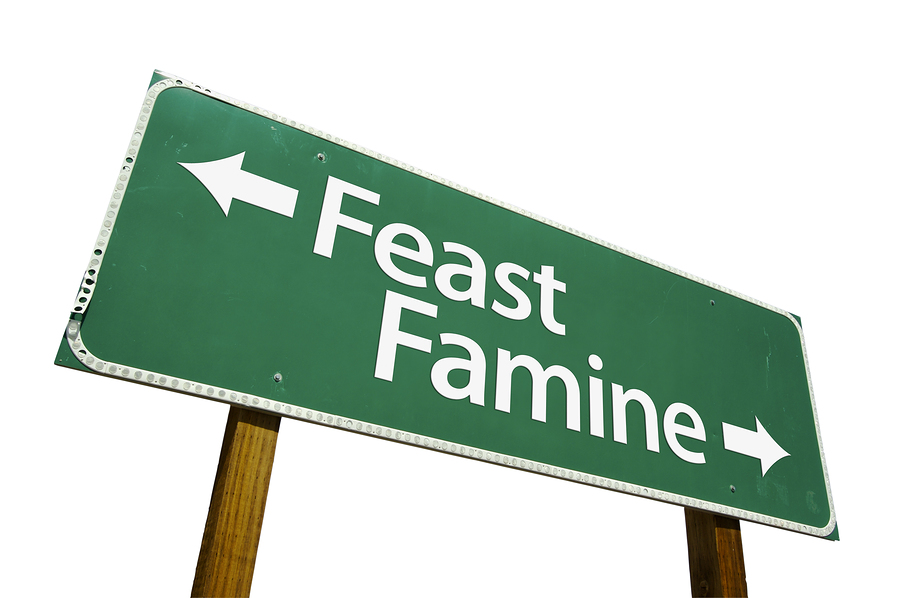 feast or famine essay It's feast or famine for us startups about us advertise about our ads contact first-person essays, features, interviews and q&as about life today.